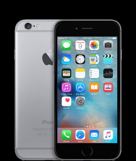 Телефон iphone 6s, приклад ззаду і спереду