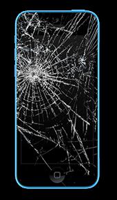 Розбите скло iPhone 5c