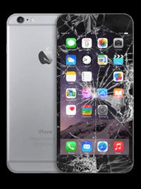 Розбите скло в iphone 6 plus